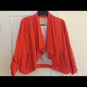 Cropped jacket from Anthropologie. Worn once